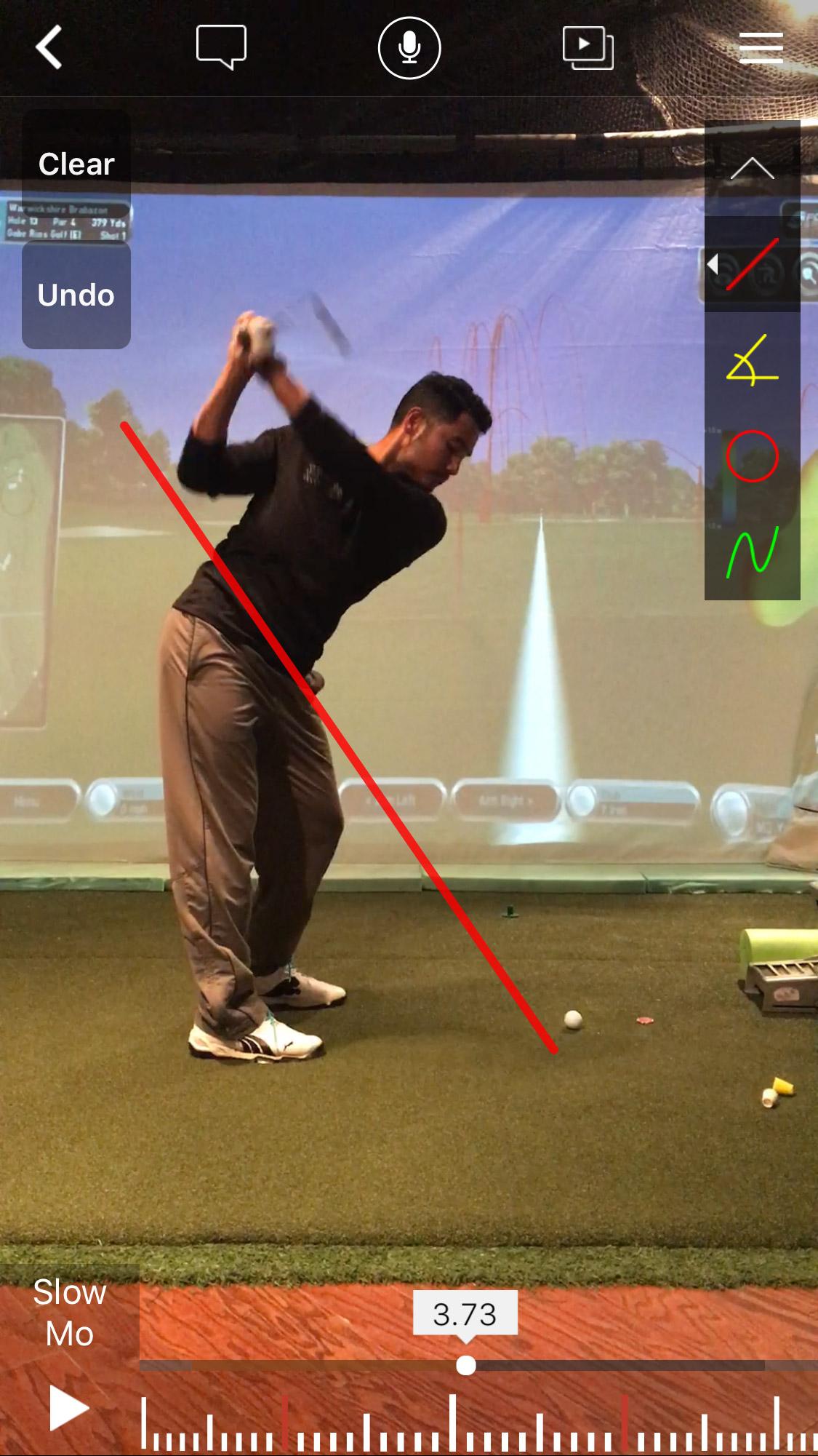 free golf lesson via assessment of gabe rios golf using advanced golf tech